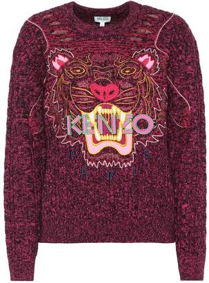 Kenzo Embroidered wool and cotton sweater