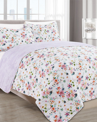 Melange Home Barbarian Wild Love Lilac Quilt Set