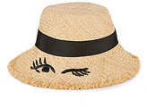 Kate Spade Embroidered Winking Cloche Sun Hat