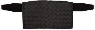 Bottega Veneta Black Intrecciato Packable Belt Bag