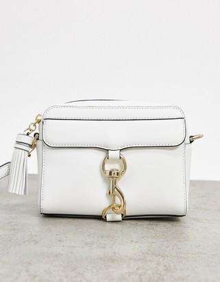 Rebecca Minkoff mab leather camera bag in white