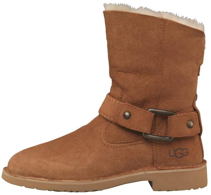 UGG Womens Cedric Buckle Detail Boots Chestnut