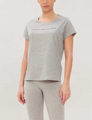 Tommy Hilfiger Logo-print cotton-blend jersey T-shirt