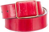 Alexander McQueen Gold-Tone Eel Belt