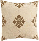 "Callisto Home Como Beaded Velvet Pillow, 22""Sq."