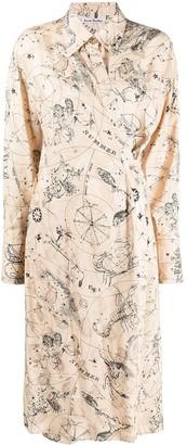 Acne Studios Constellaton-Print Wrap Dress