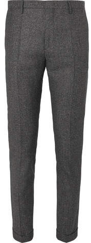 Paul Smith Dark-Grey Slim-Fit Mélange Wool And Silk-Blend Suit Trousers