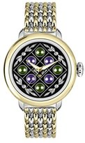 Glam Rock Women's Bal Harbour 40mm Two Tone Steel Bracelet Gold Plated Case Quartz Analog Watch GR77054