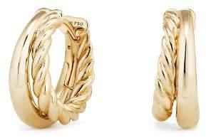 David Yurman Pure Form Hoop Earrings in 18K Gold