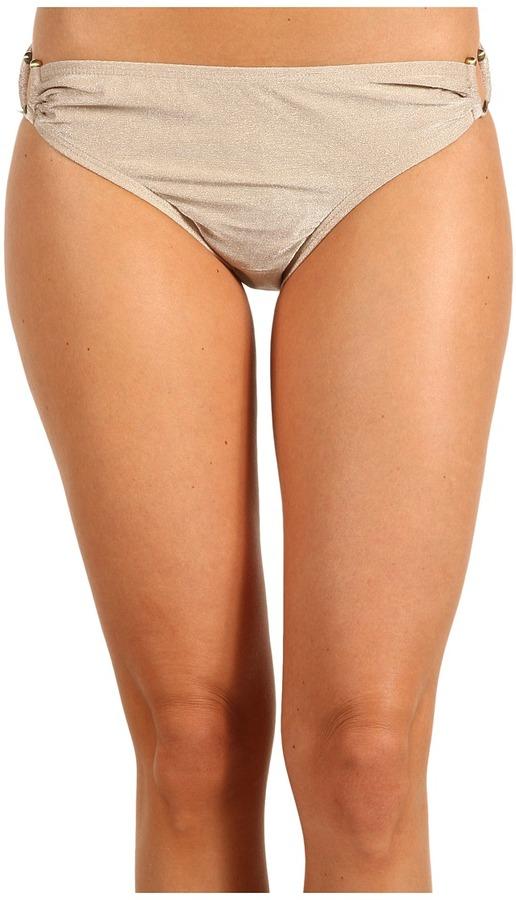 MICHAEL Michael Kors Shimmer Solids Shirred Classic Bottom (Hemp) - Apparel