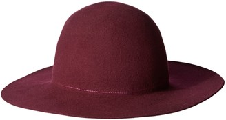 Hat Attack Women's Wool Felt Round Crown Floppy Hat