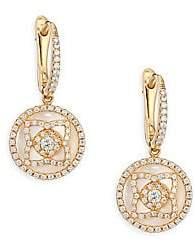 De Beers Enchanted Lotus Rose Gold, Diamond& Mother Of Pearl Sleeper Earrings