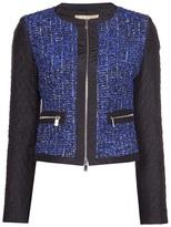 jewel neck bouclé jacket