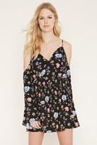 Forever 21 Floral Open-Shoulder Dress