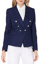 Tahari ASL Double Breasted Military Blazer
