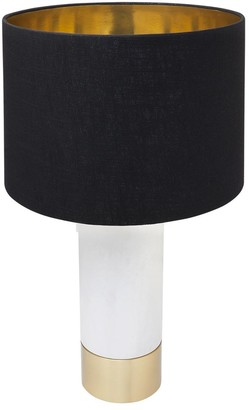 Cafe Lighting Parsons Table Lamp White With Black Shade