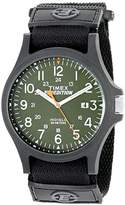 Timex Men's TW4B00100 Expedition Acadia Green/Black Fast Wrap Velcro Strap Watch
