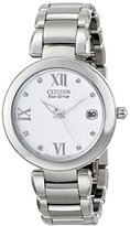 Citizen Women's EO1110-53A Marne Signature Eco-Drive Diamond Dial Watch
