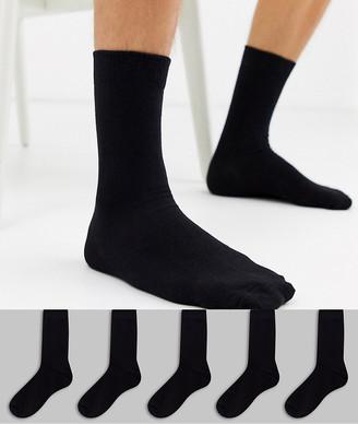 New Look socks in black 5 pack