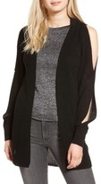 Trouve Women's Twisted Sleeve Cardigan