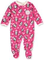 Buster Brown Baby Girls' Microfleece Footed Coverall