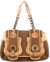 Fendi Leather-Trimmed B. Bag