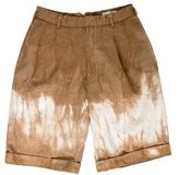 Alexander McQueen Tie-Dyed Pleated Shorts