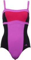 adidas Womens Infinitex Shapewear 1 Piece Swimsuit Black/Flash Pink/Bold Pink