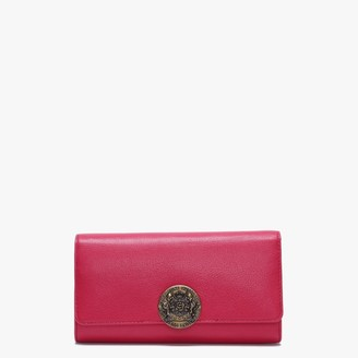 GUESS Atlas Flap Organizer Pink Leather Wallet