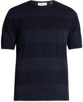 TOMORROWLAND Contrast-stripe cotton T-shirt