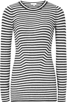 Reiss Chartwell - Striped Long Sleeved Top in Black/white