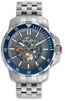 Tommy Bahama Men's 10018314 Big Island Diver Automatic Analog Display Japanese Quartz Silver Watch
