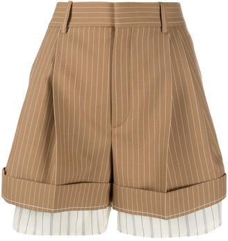 Chloé High-Waisted Pinstriped Shorts