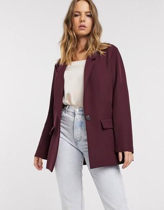 Asos Design DESIGN all rounder blazer in wine-Red