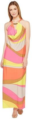 Trina Turk Women's Tranquility Vivid Vista Maxi Dress