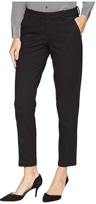 Liverpool Kelsey Trousers in Birdseye Ponte Knit (Black/Gray) Women's Casual Pants