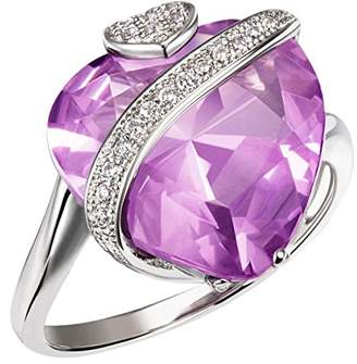 Goldmaid Women's Ring 925 Sterling Silver Amethyst colored Zirconia Heart