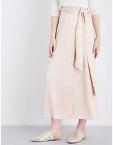Elizabeth and James Almeria crepe midi skirt