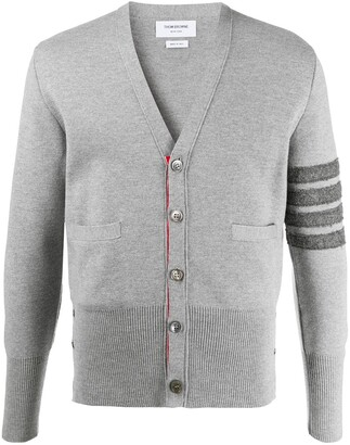Thom Browne 4-Bar V-neck cardigan