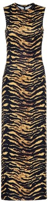 Adam Selman Sport Animal-print maxi dress
