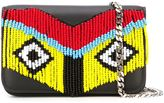 Les Petits Joueurs beaded 'Janis' clutch - women - Calf Leather/Leather/PVC/metal - One Size