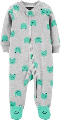 Carter's Baby Boy Frog 2-Way Zip Cotton Sleep & Play