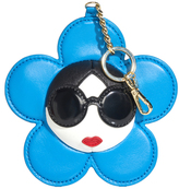 Alice + Olivia Chambray Large Staceface Leather Charm
