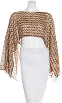 Missoni Chevron Knit Crop Top