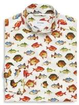 Eton Slim-Fit Fish-Print Dress Shirt