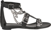 Alexander McQueen Flat sandal with chains