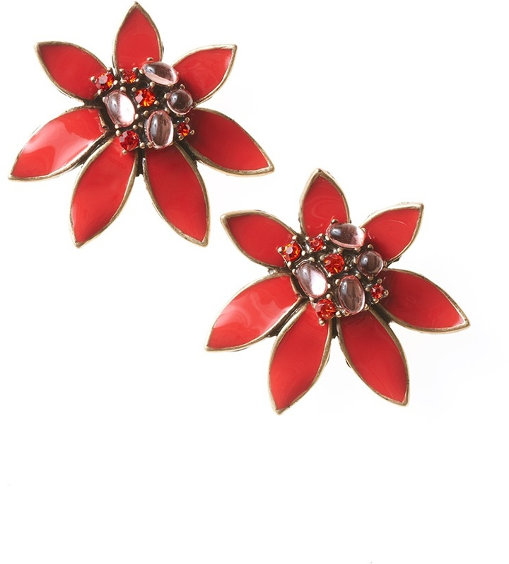Coldwater Creek Deco floral earrings
