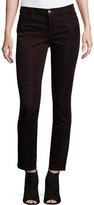 J Brand 811 Mid-Rise Skinny Corduroy Jeans, Wine