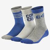 Nike Converse Standard All Star Crew Big Kids' (Boys') Socks (3 Pair)