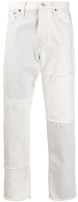 Acne Studios Recrafted patchwork straight-leg jeans